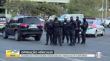 Operação Hércules: Polícia Civil prende integrantes de quadrilha que roubava carros - Policiais cumprem 15 mandados de prisão e nove de busca e apreensão no DF e no Entorno.