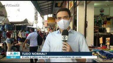 Com ruas movimentadas, Belém remota a rotina e acende alerta nas autoridades de saúde - Com ruas movimentadas, Belém remota a rotina e acende alerta nas autoridades de saúde