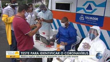 Médico explica as diferenças entre os tipos de exames que identificam o coronavírus - Confira a entrevista com o infectologista Robson Reis.