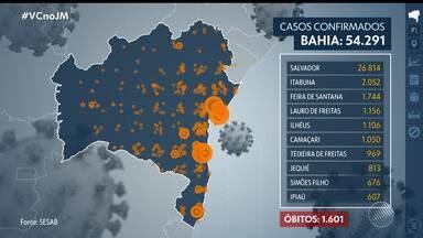 Coronavírus: Bahia bate novo recorde de mortes em 24h e doença alcança 366 municípios - Veja as principais notícias sobre a pandemia no estado, que tem mais de 54 mil casos confirmados de coronavírus.