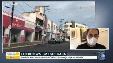 Prefeito de Itaberaba comenta ordem de 'lockdown', que entra em vigor a partir desta sexta - O decreto do município, que fica na região da Chapada Diamantina, reforçou as medidas de isolamento para conter a propagação do coronavírus.