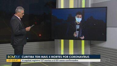 Curitiba registra mais 4 mortes por coronavírus - A cidade que está sob a bandeira laranja entra no segundo fim de semana com restrições para abertura do comércio