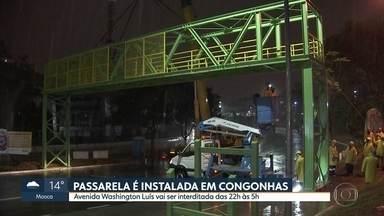Aeroporto de Congonhas ganha nova passarela - Pista vai ser interditada duas noites seguidas