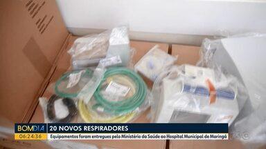 20 novos respiradores são entregues ao Hospital Municipal de Maringá - Equipamentos foram entregues pelo Ministério da Saúde.