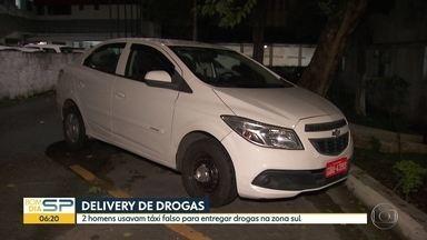 Delivery de drogas - 2 homens usavam táxi falso para entregar drogas na Zona Sul.