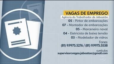 Confira vagas de emprego disponíveis na Agência do Trabalhador de Jaboatão - É preciso agendar antes de seguir para o local e se candidatar à vaga.