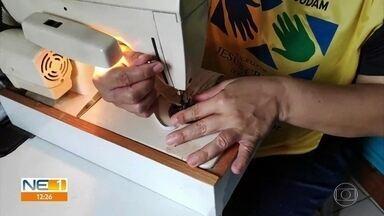 Voluntários costuram e distribuem máscaras para projetos sociais - Só em Pernambuco, foram entregues 25 mil máscaras.