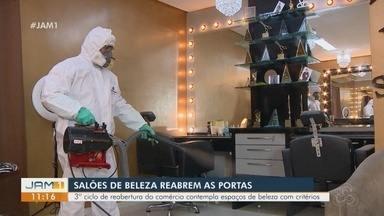 Salões de beleza reabrem as portas em Manaus - Terceiro ciclo de reabertura do comércio contempla espaços de beleza com critérios.