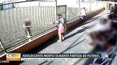 Adolescente é morto durante partida de futebol - Saiba mais no g1.com.br/ce