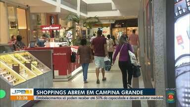 Shoppings de Campina Grande reabrem - Estabelecimentos podem funcionar com 50% da capacidade.