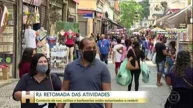 Prefeitura do Rio de Janeiro antecipa mais uma etapa de reabertura da economia - Comércio de rua, salões de beleza e barbearias estão autorizados a reabrir.