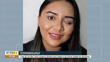 Mulher consegue dinheiro para colocar prótese olho em Marataízes, no Sul do ES - Veja.
