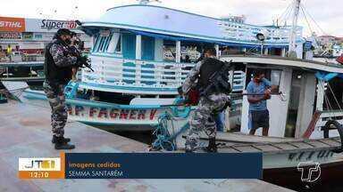 Órgãos de segurança realizam ação na região do Tapará, em Santarém - Operação ocorreu na comunidade Boa Vista do Tapará. Chefe de fiscalização da Semma explica o que é a 'despesca'.