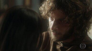 Joaquim promete tirar Anna e Vitória da casa de Thomas - Olinto dá um jeito de distrair Nívea para deixar Anna e Joaquim em paz no escritório da casa. Thomas anda pelas ruas da cidade