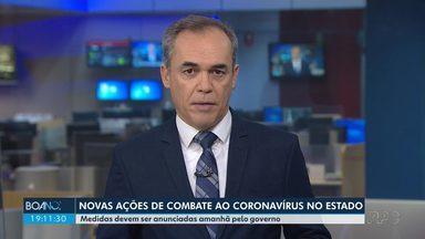 Novas medidas de combate ao coronavírus devem ser anunciadas pelo governo - O governador Ratinho Junior vai se reunir na terça (30) com representantes do Ministério Público, Tribunal de Justiça, Tribunal de Contas e deputados estaduais.