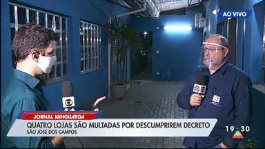 São José multa estabelecimentos por abertura irregular no final de semana - Novo decreto proíbe abertura de comércios em algumas regiões do município