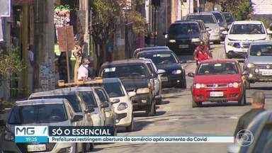 Prefeituras da Região Metropolitana de BH recuam e fecham o comércio não essencial - Além de Belo Horizonte, Contagem, Juatuba e outras cidades vizinhas adotaram regras mais duras contra o avanço do coronavírus.