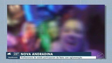 Profissionais de saúde participaram de festa com aglomeração em Nova Andradina - Profissionais de saúde participaram de festa com aglomeração em Nova Andradina