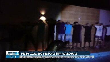 300 pessoas participam de festa durante a pandemia, no Alto Sertão da Paraíba - Polícia acabou com a festa.