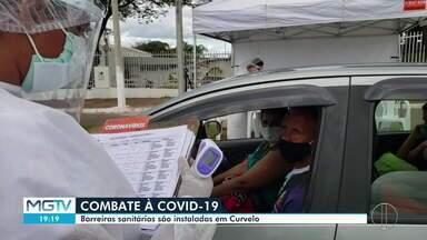 Coronavírus: Barreiras sanitárias são instaladas em Curvelo - Cinco barreiras foram montadas para abordar quem entra na cidade.