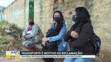 Moradores de Esmeraldas se queixam de desativação de linhas - Pandemia está deixando passageiros esperando mais tempo.