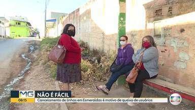 Passageiros de esmeraldas esperam quase uma hora por ônibus - Eoles alegam que com a pandemia linhas foram suspensas na cidade.