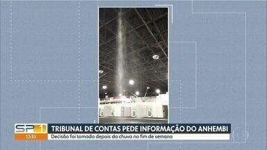 Tribunal de Contas do Município de São Paulo pede informações sobre problemas no Anhembi - Decisão foi tomada depois da chuva que provocou alagamentos no Hospital de Campanha no último final de semana.