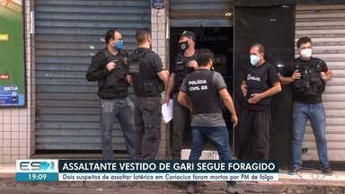 Dois homens são mortos após assaltarem casa lotérica em Cariacica, no ES - Veja na reportagem.