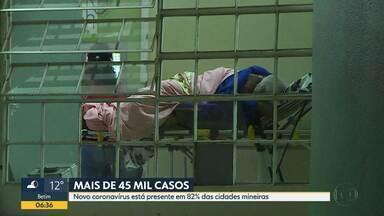 Novo coronavírus avança para o interior de Minas - Mais de 700 municípios mineiros já têm casos confirmados de Covid-19, o que representa 82% do total de cidades do estado.