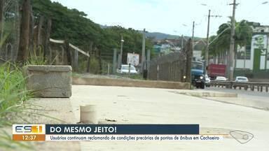 Usuários reclamam de pontos de ônibus em Cachoeiro de Itapemirim, no Sul do ES - Veja a reportagem.