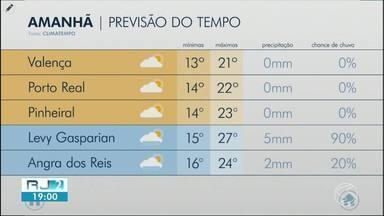 Meteorologia prevê tempo instável nesta quinta-feira no Sul do Rio e Costa Verde - Por conta da frente fria que está sob a região, há chance de chuva em algumas cidades da região. Além disso, a Marinha do Brasil emitiu um alerta de ventos fortes no litoral e ondas de até quatro metros.