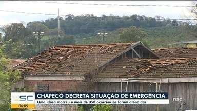 Chapecó decreta situação de emergência e registra 350 ocorrências - Chapecó decreta situação de emergência e registra 350 ocorrências