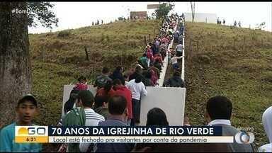 Romaria da Igrejinha não deve reunir fieis este ano em Rio Verde - Ordem de distanciamento social impediu a realização do evento.