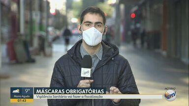 Vigilância sanitária vai fiscalizar o uso de máscaras em locais públicos em Ribeirão Preto - Quem for pego sem o item terá que pagar multa.