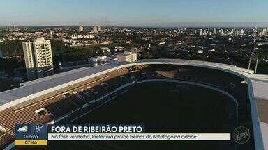 Time do Botafogo não pode realizar treinos em Ribeirão Preto, SP - Cidade está na fase vermelha do plano de retomada do Estado.