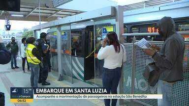 Estação São Benedito fica cheia pela manhã - Guarda Municipal faz vistorias no local.