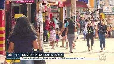 Covid-19 avança em Santa Luzia - Em um mês, cidade registra aumento de 560% no número de casos.
