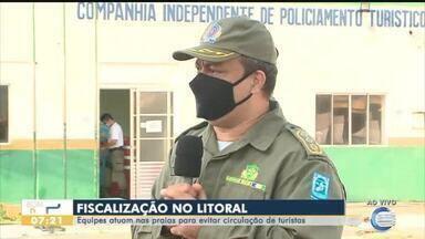 Policia Militar atua nas praias do Piauí para evitar aglomeração de turistas - Policia Militar atua nas praias do Piauí para evitar aglomeração de turistas