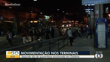 Confira movimentação no Terminal Praça da Bíblia em Goiânia - Novo decreto determinou fechamento de serviços não essenciais.