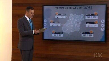 Confira a previsão do tempo para esta quinta-feira em Goiás - Massas de ar seco mantêm predomínio do sol.