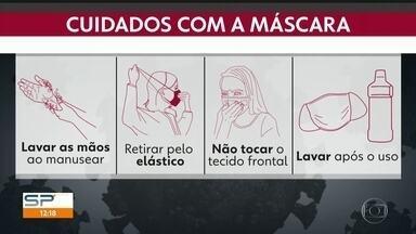 Use de máscara cameça a ser obrigatório nesta quinta (2) em São Paulo - As pessoas que forem flagradas em locais públicos sem a máscara de proteção contra a Covid-19 deverão pagar uma multa de R$ 524,59.