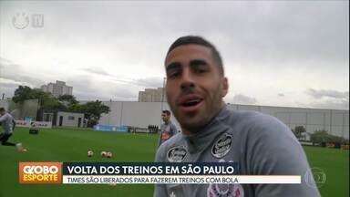 GE no DF1: times paulistas voltam aos treinos com bola - Esporte também destaca a chegad de Keno a Belo Horizonte para fechar com o Atlético Mineiro, que anuncio a contratação do zagueiro paraguaio Junior Alonso, ex-Boca Juniors, da Argentina.