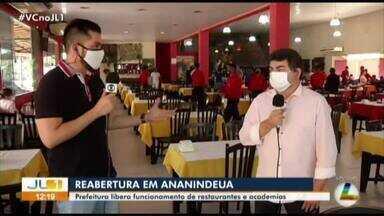 Prefeitura de Ananindeua libera restaurantes e academias - Os espaços só podem funcionar com metade da capacidade.