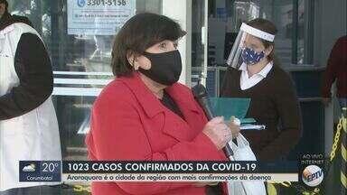 Araraquara registra mais de mil casos de Covid-19, diz Secretaria Municipal de Saúde - Comitê de Contingência do Coronavírus confirmou mais 35 casos nesta quinta-feira (2).