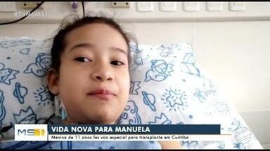 Força-tarefa leva moradora de MS para fazer transplante de rim - Manuela precisava ir até Curitiba para cirurgia e deixar de fazer hemodiálise