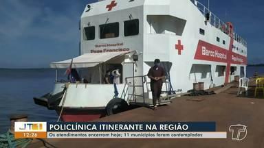Após passar por 11 municípios, Policlínica Itinerante encerra atendimentos nesta quinta, 2 - Último município a receber os serviços é Juruti.