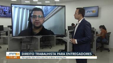 Entrevista:Saiba quais os direitos trabalhistas garantidos aos entregadores de aplicativos - O advogado Abhner Santos fala sobre o assunto e deixa orientações.