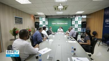 Prefeitos de municípios da RMS se reúnem para discutir o combate ao coronavírus - A doença já se espalhou por toda a região.