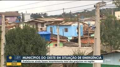 Municípios do Oeste catarinense decretam situação de emergência - Municípios do Oeste catarinense decretam situação de emergência