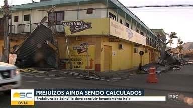 Joinville deve concluir levantamento de prejuízos nesta sexta-feira - Joinville deve concluir levantamento de prejuízos nesta sexta-feira
